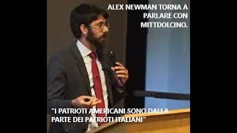 """Alex Newman torna a parlare con noi. """"I patrioti americani sono dalla parte dei patrioti italiani"""""""
