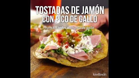 Ham Tostadas with Pico de Gallo