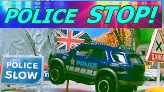 Police Chase Stolen Car in Die-cast City