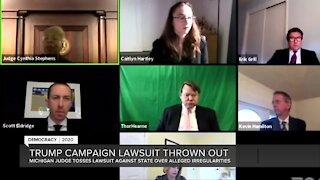 Judge dismisses Trump campaign lawsuit over Michigan votes