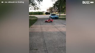 Toy car is turned into skidding machine!