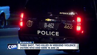 Three shot, two killed in weekend violence