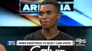 Dravon Ames reacts to release of body cam video of arrest in Tempe