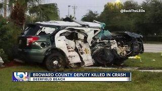 Broward County Sheriff's Office deputy killed in crash while on duty in Deerfield Beach