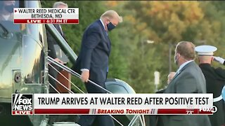 Trump arrives at Walter Reed after positive test