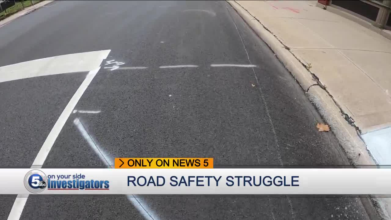 Cleveland homeowners concerned about incomplete road safety lines