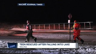 Teen boy rescued after falling through ice on Lake Michigan