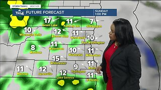 Milwaukee weather Sunday: Cloudy and breezy with scattered showers