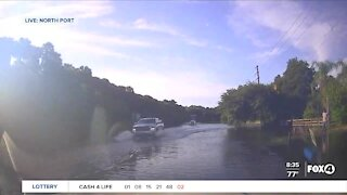 Breaking News Tracker live look at North Port flooding