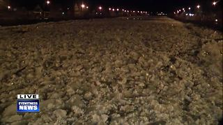 West Seneca, Buffalo crews clearing ice jam flooding