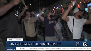 Padres Fan excitement spills into streets