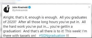 John Krasinski to host virtual graduation