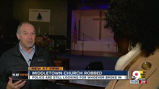 Middletown Pastor says 'no anger' after church is robbed