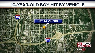 10-year-old boy hit by vehicle