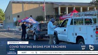 Alpine schools begin drive-thru COVID-19 testing for staff members