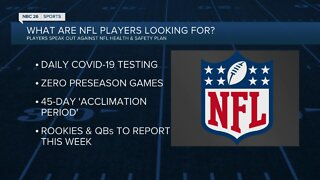 Players plead with NFL to address health, safety concerns