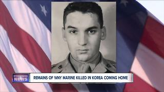 Remains of WNY Marine killed in Korea coming home