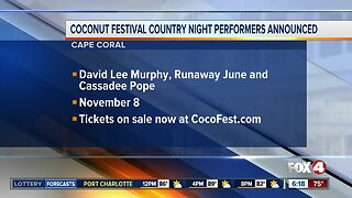 Coconut Festival country night performers announced
