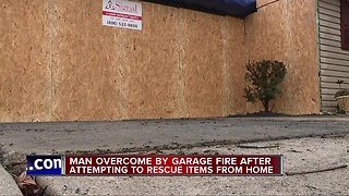 Man overcome by garage fire after attempting to rescue items from home in Taylor