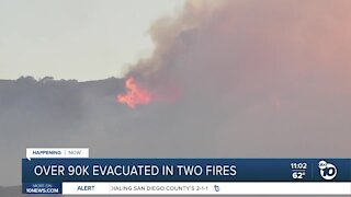 Over 90K evacuated in two Southern California fires