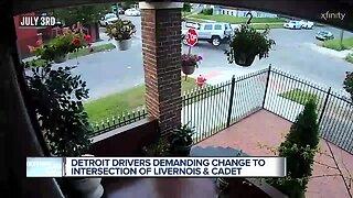 Detroit drivers demanding changes to dangerous intersection