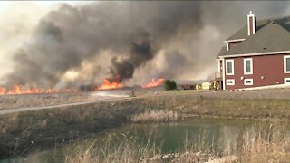 Menomonee Falls brush fire under control, residents can return to their homes