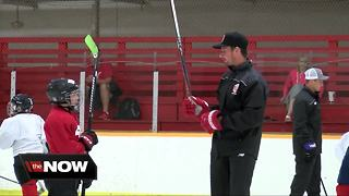 Dylan Larkin hockey camp