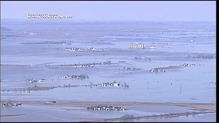 KHSB aerial footage along I-29