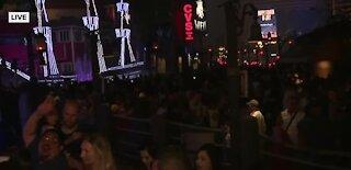 Thousands watch fireworks on Las Vegas Strip