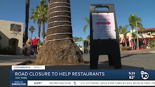 Road closure to help Old Town restaurants