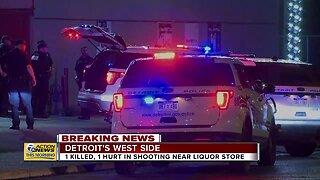 1 killed, 1 hurt in shooting near liquor store in Detroit