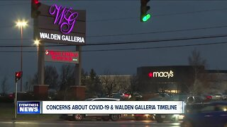 Concerns about COVID-19 and Walden Galleria timeline