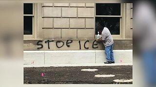 Michigan state capitol building vandalized