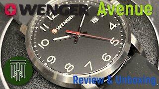 Wenger Avenue Men's 100m Sport Watch - Review & Unboxing (01.1641.101 / Ronda 515S)
