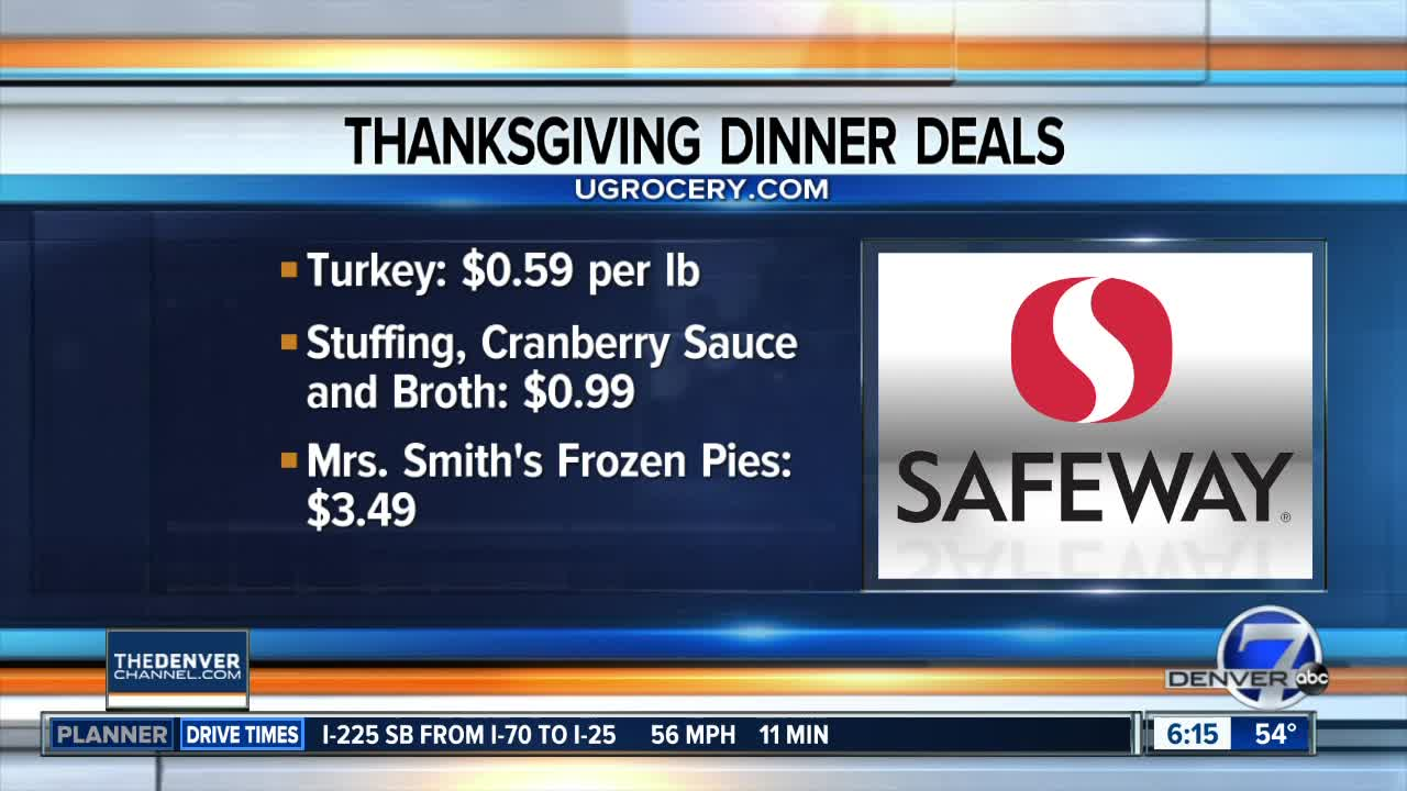 Finding deals on Thanksgiving meal items