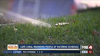 Cape Coral enforces two-day watering schedule