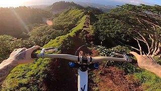 Stunning Video Shows Skilled Biker Gliding Through Narrow Mountain Trail
