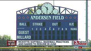 Ricketts: Softball, baseball practices and games to resume in June