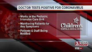 Doctor tests positive for coronavirus