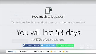 Website tells you how much toilet paper you need to survive the coronavirus pandemic