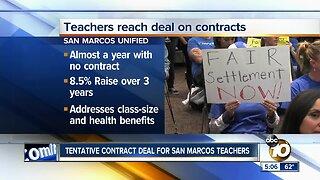 Tentative contract deal for San Marcos teachers