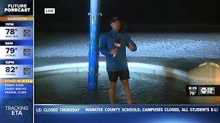 Heavy rain continues at Clearwater Beach