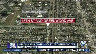 Deadly crash in West Palm Beach