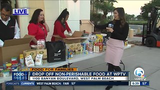 All-day food drive today at WPTV in downtown West Palm Beach