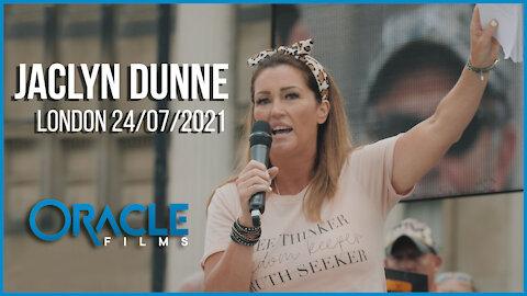 Jaclyn Dunne | Worldwide Rally for Freedom London 24/07/21 | Oracle Films | CoviLeaks