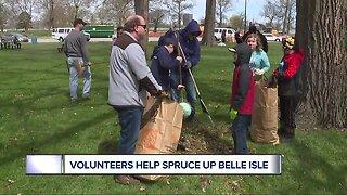 Volunteers help spruce up Belle Isle for spring, summer