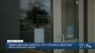 Jenks mayor cancels city council meeting