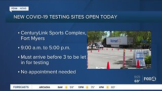 New drive thru COVID-19 testing sites in Southwest Florida
