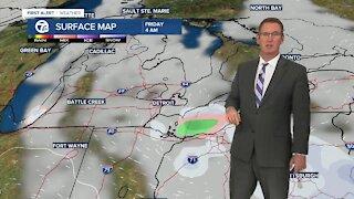 Snow chance Wednesday