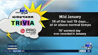 Weather trivia: Warmest day in January